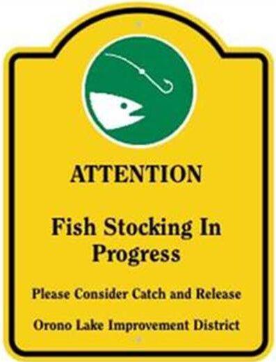 Fish stocking sign